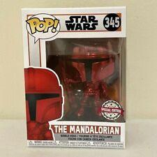 Funko Pop Star Wars The Mandalorian 345 Red Chrome Beskar Armor Special Edition