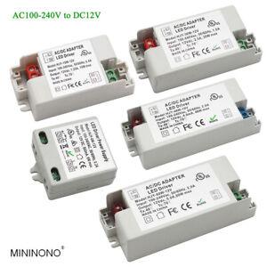 AC100-240V to DC12V Led Driver Transformer Power Supply Adapter 6W15W30W48W60W