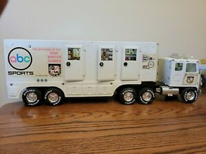 Vintage Nylint ABC Sports GMC Semi Tractor Trailer Truck Pressed Steel Toy