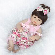 "22"" Lifelike Reborn Baby Girl Doll Handmade Silicone Full Body Vinyl Realistic"