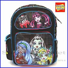 """Monster High Skull 16"""" Large Girls Backpack for School"""