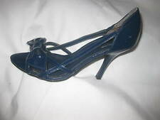 "CUTE !! ""CL LAUNDRY"" WOMEN NAVY HIGH HEEL OPEN TOES & SIDES PUMPS SZ 7M"