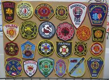 OHIO FIRE/RESCUE DEPARTMENT PATCHES!SET ONE! LOT OF 24! See Item Description!