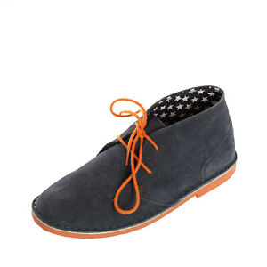 GIOSEPPO Suede Leather Chukka Boots Size 34 UK 2 US 3 Lace Up Round Toe