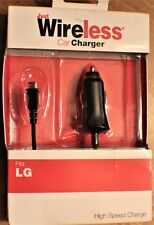 Just Wireless High Speed Car Charger for LG, Black
