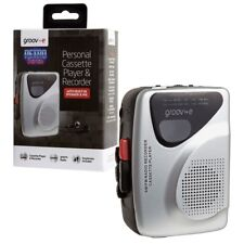 Groov-e Retro Personal Cassette Player & Recorder with AM/FM Radio and Speaker