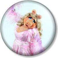 """Miss Piggy 25mm 1"""" Pin Button Badge Sesame Street Retro Kids TV Muppets Puppet 2"""