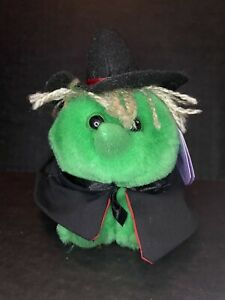 """Swibco Puffkins """"HAZEL"""" the Witch, 1998 Halloween Limited Edition, MWMT!"""