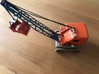 Gama Bagger 282 im Orange Blau 60 iger Jahre Kunststoff Metall