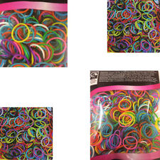 500 X Small Elastic Hair Bands Braids Poly Rubber Plaits Braiding - Mixed Colour
