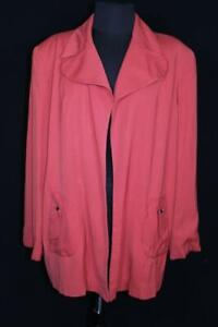 VERY RARE VINTAGE 1940'S RED GABARDINE WOMAN'S LUCY COAT SIZE LARGE