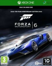 Forza Motorsport 6 Ten Year Anniversary Edition Xbox One * NEW SEALED PAL *
