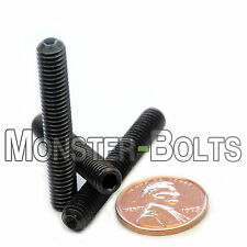 (10) M6 x 40mm Hex Socket Set Screws w Cup Point Class 45H Alloy Steel Black Ox