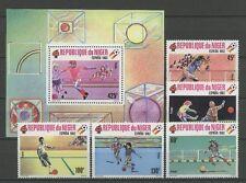 Fútbol-WM 1982, soccer-níger - 719-723, bl.31 ** mnh