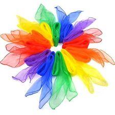 Scarves Dance Silk Juggling Square Props Tricks Magic Chiffon Musical 24 Pcs New