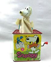 Vintage Peanuts Snoopy Jack in the Box Tin 1958 Lucy Linus Charlie Brown Pig Pen