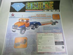 First Gear Mack Granite Toolway+Tunnel Tractor+Lowboy Order Form Color 19-3328