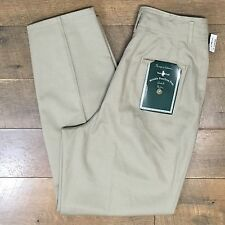 "New Vtg HUNT CLUB Womens High Waist Khaki Pants Size 12 Avg Waist 29"" NWT"