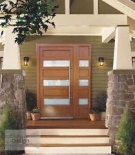 Door EXD 013  - Front door + 1 side panel, white glass, long handrail