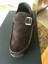 Brand new Hugo Boss brown suede men loafers size UK 6 US 7 made in Italy