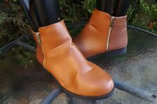 BE YOU TAN SYNTHETIC LEATHER SNAKESKIN DETAIL ANKLE BOOTS SIZE UK 7