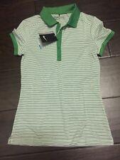 e3ff3aa4 Nike Women's Dri-Fit Striped Swoosh Golf Polo Shirt 725585-306 XS