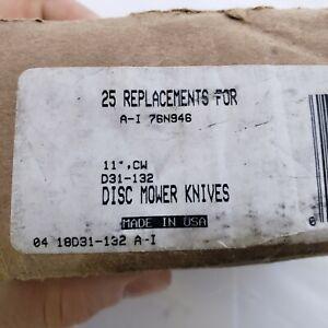 155376 Disc Mower Blades 25pk 11° CW.  RH 76N946 D31-132