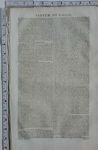 1790 SYSTEM of LOGIC ORIGINAL ANTIQUE ARTICLE TREATISE 6 PAGES