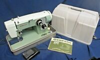 Tested Vintage Model 712 Domestic Sewing Machine Green w/ Foot Pedal
