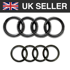 Audi Gloss Black Front Rear Grille Bonnet Badge Rings 273mm 193mm A1 A3 A4 A6
