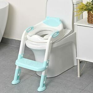 711TEK Potty Training Seat Toddler Toilet Seat with Step Stool LadderPotty Tr...