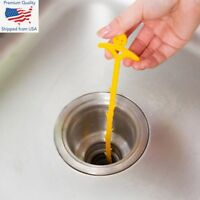 Drain Stick Hair Clog Remover Plastic Hook Hand Snake Easy Plumbing Pipe UnBlock