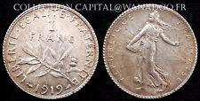 1 Franc 1919 FDC Argent Côte 25€