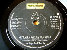 """UNDISPUTED TRUTH - LET'S GO DOWN TO THE DISCO  7"""" VINYL"""