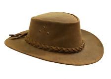 Kakadu Traders Australia Bulldog Leather Hat in tobacco | Clearance