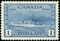 1942 Canada Mint NH VF Scott #262 $1.00 KGVI War Issue Stamp