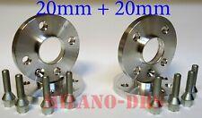 4 DISTANZIALI RUOTA 20+20mm OPEL ADAM Bullone CONICO (4 FORI)+KIT ANTIFURTO