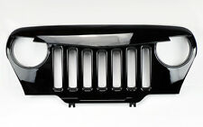 Angry Bird Style Mesh Gloss Black Front Hood Grill Fits Jeep Wrangler TJ 97-06