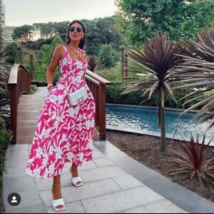 Zara Printed Poplin Dress Size XSMALL BNWT