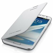 Genuine Samsung Flip Premium Case Cover per Samsung Galaxy Note 2-Bianco