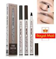 Fashion Eyebrow Tattoo Pen Waterproof Fork Tip Microblading Makeup Ink Sketch