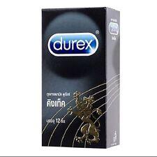 DUREX KINGTEX Condoms small size 49 mm.for Asian fit  safe sex 1 Box(12 Pieces.)