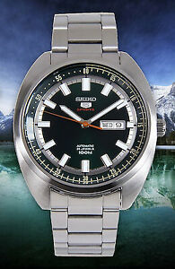 Seiko 5 Sports 100M Green Helmet Turtle Automatic Men's Stainless Steel Watch