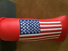Titleist- Scotty Cameron -  RED USA Large American Flag HeadCover -- Divot Tool