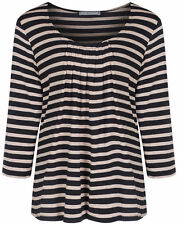 Marks and Spencer Women's 3/4 Sleeve Sleeve Scoop Neck Hip Length Tops & Shirts