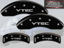 "2003-2011 Honda Element Front + Rear Black MGP Brake Disc Caliper Covers ""VTEC"""