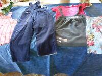 lot 5piéces fillette 3-4ans  pantalon ,ensemble etc
