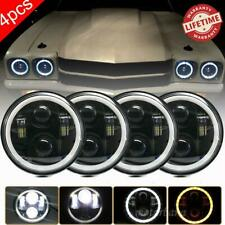 "Dot 5.75"" 5-3/4"" 5.75 Inch LED Projector Headlights For Corvettes Chevelles"