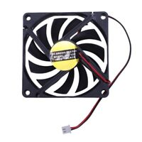 80mm 2 Pin Connector Cooling Fan for Computer Case CPU Cooler Radiator S6A7