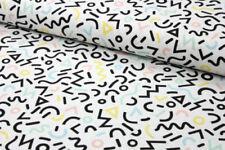 Tessuti e stoffe bianche per hobby creativi sul logo